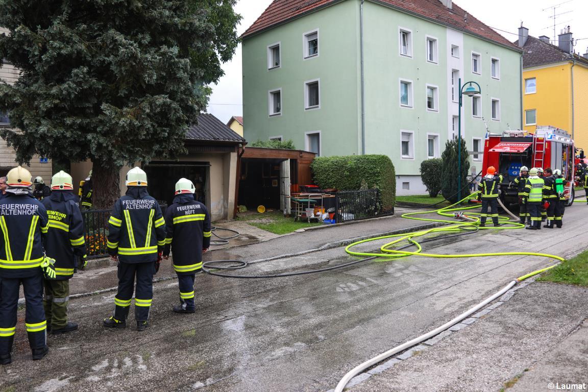 FF Altenhof 20180903121309 Brand Nebengebäude